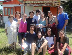 Estudiantes de Saint George en Chile